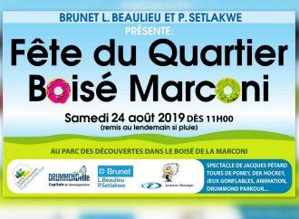 Fête du quartier boisé de la Marconi, une invitation et initiative citoyenne à ne pas manquer