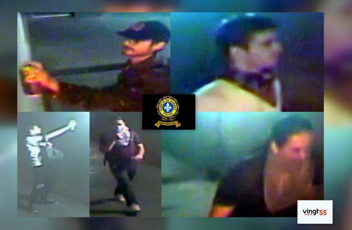Trois suspects recherchés par la Sûreté du Québec pour méfaits à Drummondville