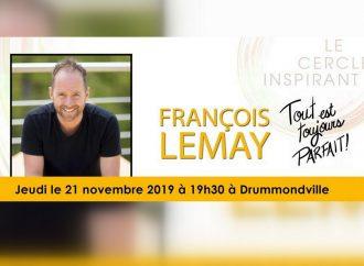 """François Lemay fondateur du mouvement """"Inspire-toi"""" de passage à Drummondville"""