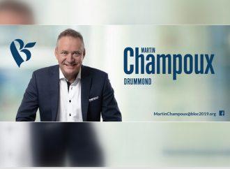 Martin Champoux inaugure le local électoral du Bloc Québécois Drummond et réitère ses engagements électoraux