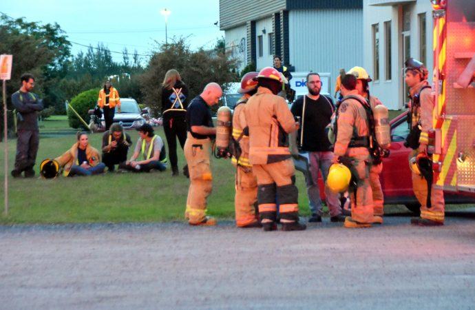 Un déversement de produit nettoyant a forcé l'intervention du Service incendie de Drummondville