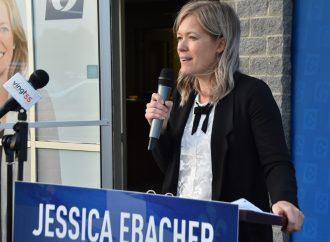 Jessica Ebacher candidate conservatrice satisfaite de sa performance lors du débat électoral organisé par la CCID