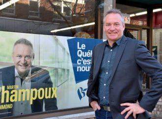 Le candidat du Bloc Québécois dans Drummond, Martin Champoux trace le bilan de sa campagne