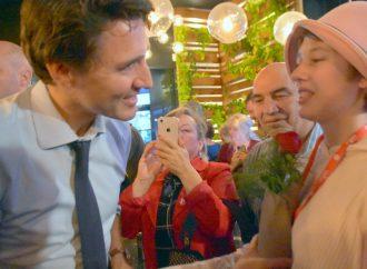 Justin Trudeau marque un arrêt significatif à Drummondville
