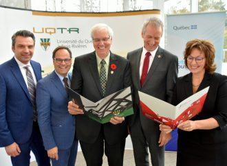 Annonce et investissement majeur pour la construction d'un nouveau pavillon au campus de l'UQTR à Drummondville