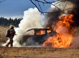 Un feu de véhicule monopolise le Service incendie à Saint-Joachim-de-Courval