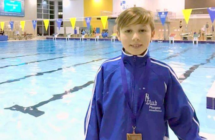 Le jeune plongeur Cyrillois, Léon Jacques nommé Jeune Espoir de plongeon 2018-2019.
