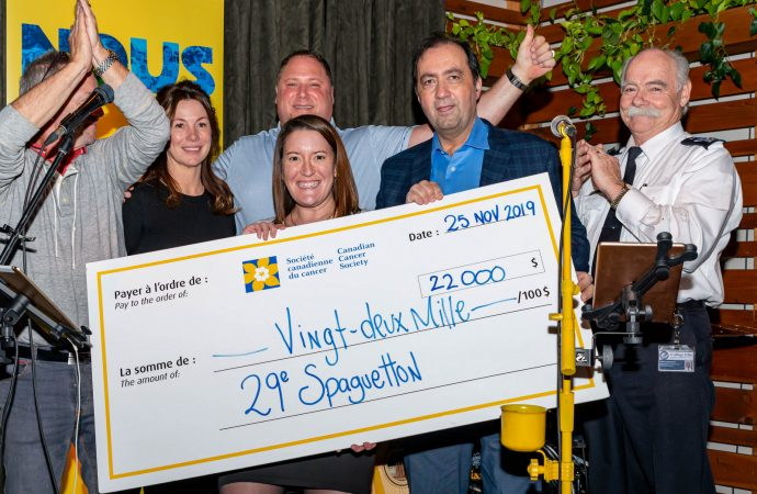 Le Spaghetton des étudiants en Technique policière du Collège Ellis a permis d'amasser 22 000 $.