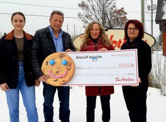 La campagne annuelle du Biscuit Sourire de Tim Hortons amasse une somme record à Drummondville !