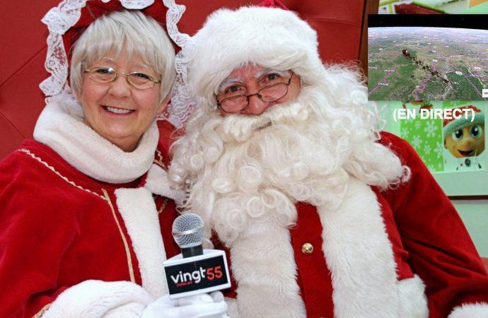 Suivez le parcours du Père Noël autour du globe en direct de Drummondville