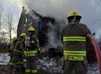 Incendie suspect à Saint-Germain-de-Grantham