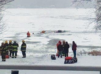 Un couple sauvé in extremis des eaux glacées, un rappel à la prudence sur les plans d'eau