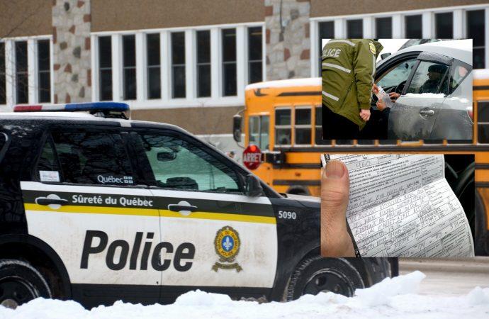 Autobus scolaires et feux clignotants aux abords des écoles – Encore beaucoup d'infractions à Drummondville