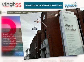 La Ville de Drummondville cesse la publication d'avis publics sous la bannière du Vingt55