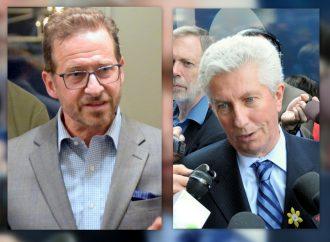 Yves-François Blanchet et Gilles Duceppe lors l'Assemblée générale annuelle à Drummondville