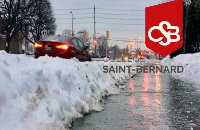 En raison des conditions climatiques – L'école à la maison pour les élèves du secondaire du Collège Saint-Bernard