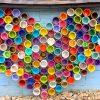 Galerie mp tresart – Réalisation d'une murale en forme de cœur portant le message d'espoir « Ça va bien aller »