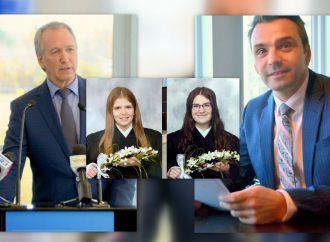 Le message de Mylène et Sara-Jade, étudiantes et finissantes du secondaire, trouve écho à Drummondville chez nos deux députés