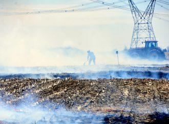 Un feu de VTT endommage 300 mètres carrés de terre agricole à Saint-Majorique près de Drummondville