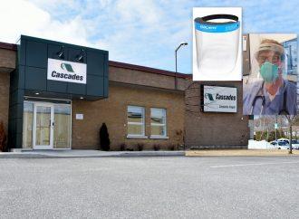 Cascades Inopak de Drummondville livrera 1 million de composantes servant à la fabrication de visières médicales