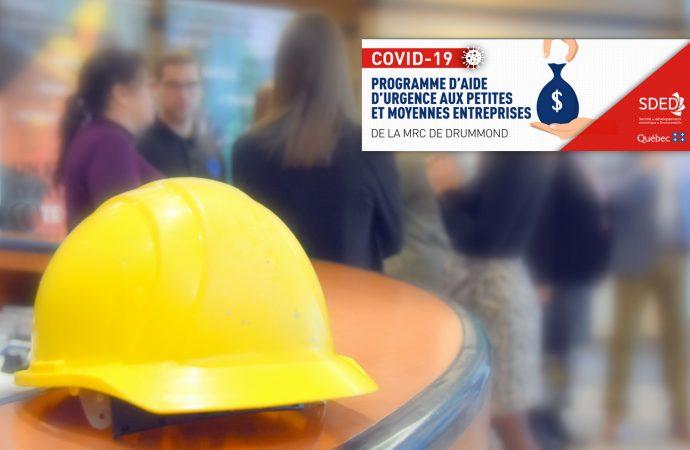 COVID-19 : Programme d'aide d'urgence pour petites et moyennes entreprises de la MRC de Drummond