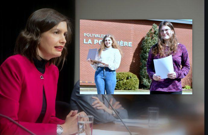 Éducation – Le gouvernement du Québec a entendu l'appel lancé par nos deux Drummondvilloises et les étudiants du Québec ''Vous ne serez pas oubliés''