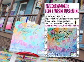 Les Éditions mp tresart mettent sur pied un lancement de livre virtuel