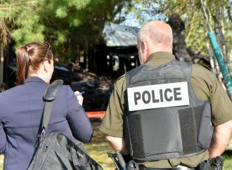 Incendie suspect à Saint-Lucien, la Sûreté du Québec enquête