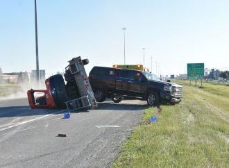Accident sur l'autoroute 20 Est à Drummondville