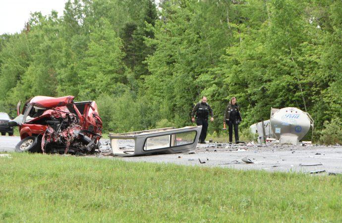 Un homme perd la vie dans un violent face à face sur la 955 près de Drummondville