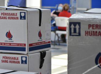 Des donneurs de sang de la population adulte du Québec aurait contracté la COVID-19