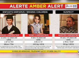 Alerte Amber : La Sûreté du Québec a déclenché une alerte Amber afin de retrouver le plus rapidement possible deux fillettes de Lévis