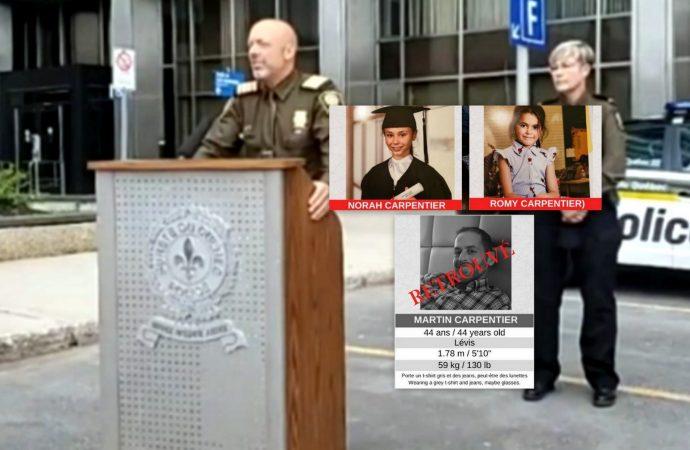 Martin Carpentier – La SQ confirme le double meurtre et la trame des événements