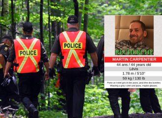 """Recherches de Martin Carpentier : Des éléments découverts laissent croire qu'il pourrait toujours """" être mobile"""" confirme la Sûreté du Québec"""