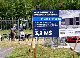 Parc de la Seigneurie : Pelletée de terre pour un parc phare à Drummondville
