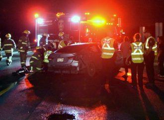 Accident sur l'autoroute 20 près de Drummondville