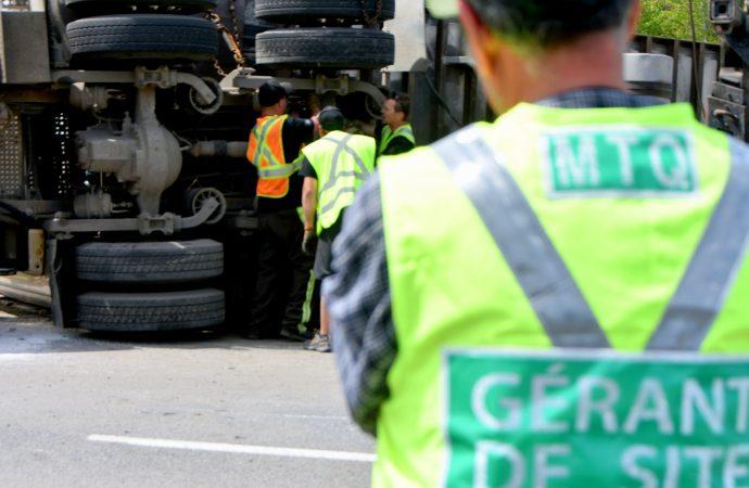 Un accident cause la fermeture de l'autoroute 20 Ouest à la hauteur du km 199