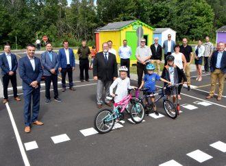 La Ville de Drummondville inaugure le tout premier parcours de vélo éducatif au Québec