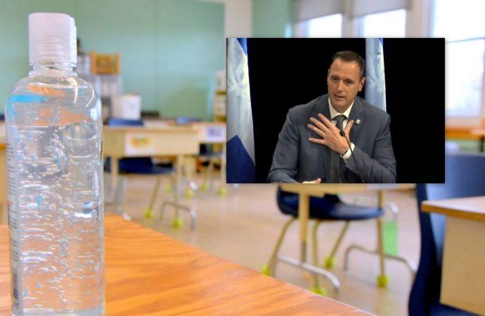 """Covid-19 : Rentrée scolaire 2020-2021 """"des balises claires"""" assure Jean-François Roberge ministre de l'Éducation"""