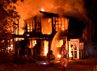 Incendie suspect à Saint-Nicéphore rue Cordeau, le dossier transféré à la Sûreté du Québec