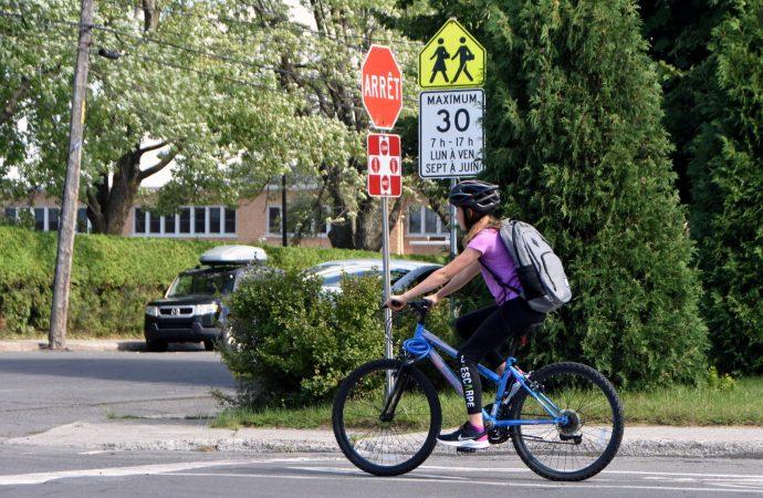 C'est la réouverture du réseau cyclable à Drummondville