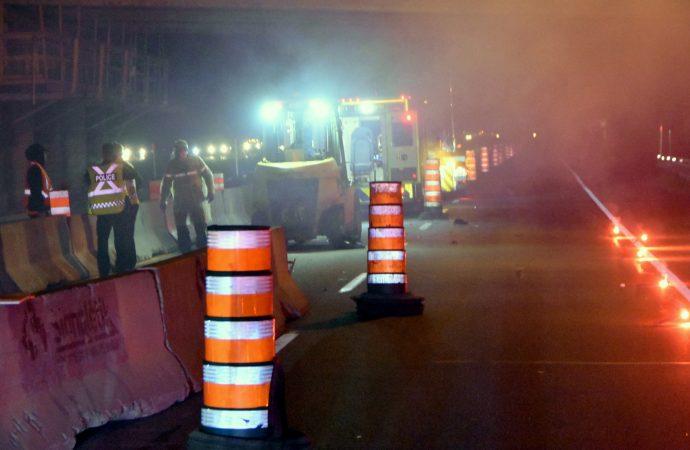 Accident – Délit de fuite sur l'autoroute 20, un travailleur de chantier perd la vie