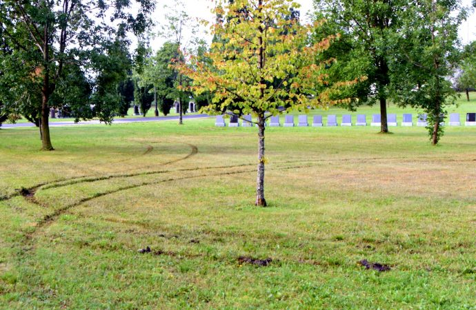 Méfaits et dérapage dans un cimetière de Drummondville