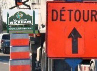 Wickham : Fermeture du 9e rang Est du 21 au 23 septembre