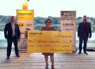 Promutuel Assurance Centre-Sud distribue 5 000$ à 10 organismes de la région