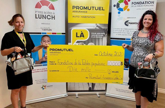 Promutuel Assurance Centre-Sud remet 35 000$ à quatre organismes en aide alimentaire de la région