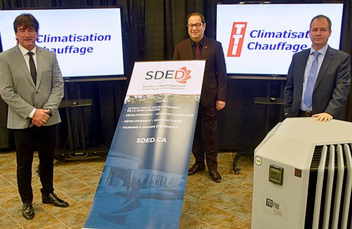 TTI Climatisation chauffage s'implante à Drummondville et permettra la création de 25 nouveaux emplois