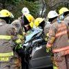 Un accident impliquant un tracteur de ferme et une voiture force l'intervention des pinces de désincarcération