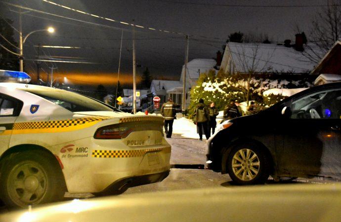 Intervention et déploiement policier dans le secteur Saint-Charles-de-Drummond