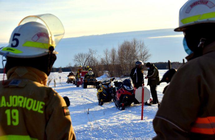 Une femme blessée dans un accident de motoneige à L'Avenir